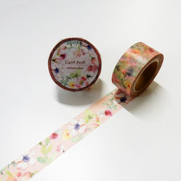 Round Top x Liang Feng Spring (Die-Cut) Watercolor Washi Tape (MTW-LF003) | Washi Wednesday
