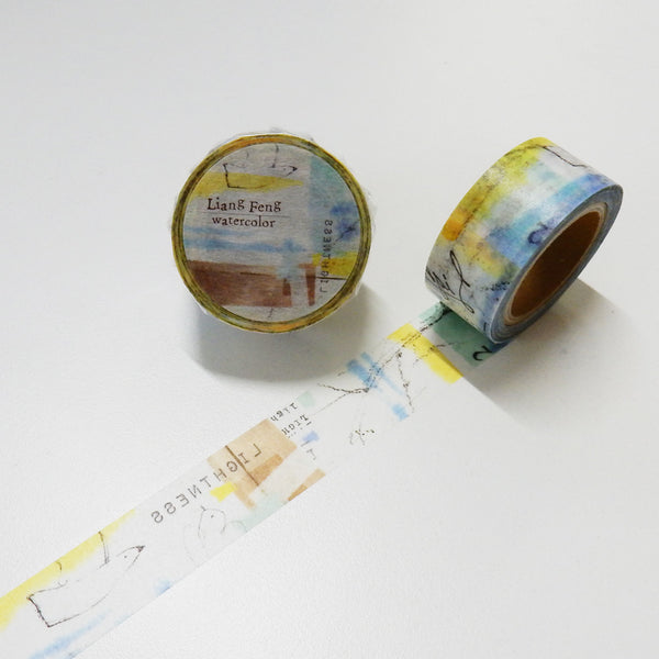 Round Top x Liang Feng Sea (Die-Cut) Watercolor Washi Tape (MTW-LF006) | Washi Wednesday