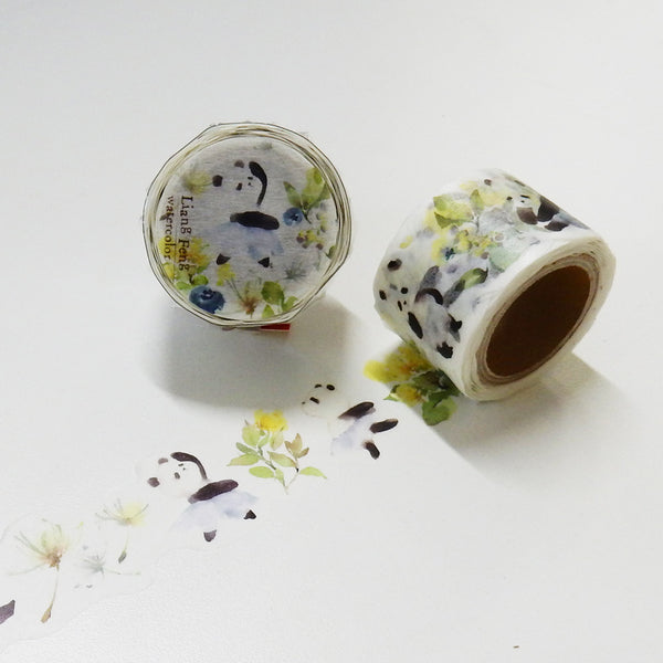 Round Top x Liang Feng Panda Waltz (Die-Cut) Watercolor Washi Tape (MTW-LF008) | Washi Wednesday