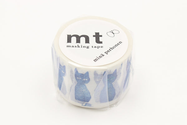 mt x Mina Perhonen Ao-Neko washi tape (MTMINA37) | Washi Wednesday