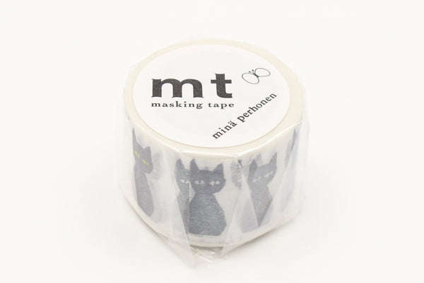mt x Mina Perhonen Kuro-Neko washi tape (MTMINA36) | Washi Wednesday