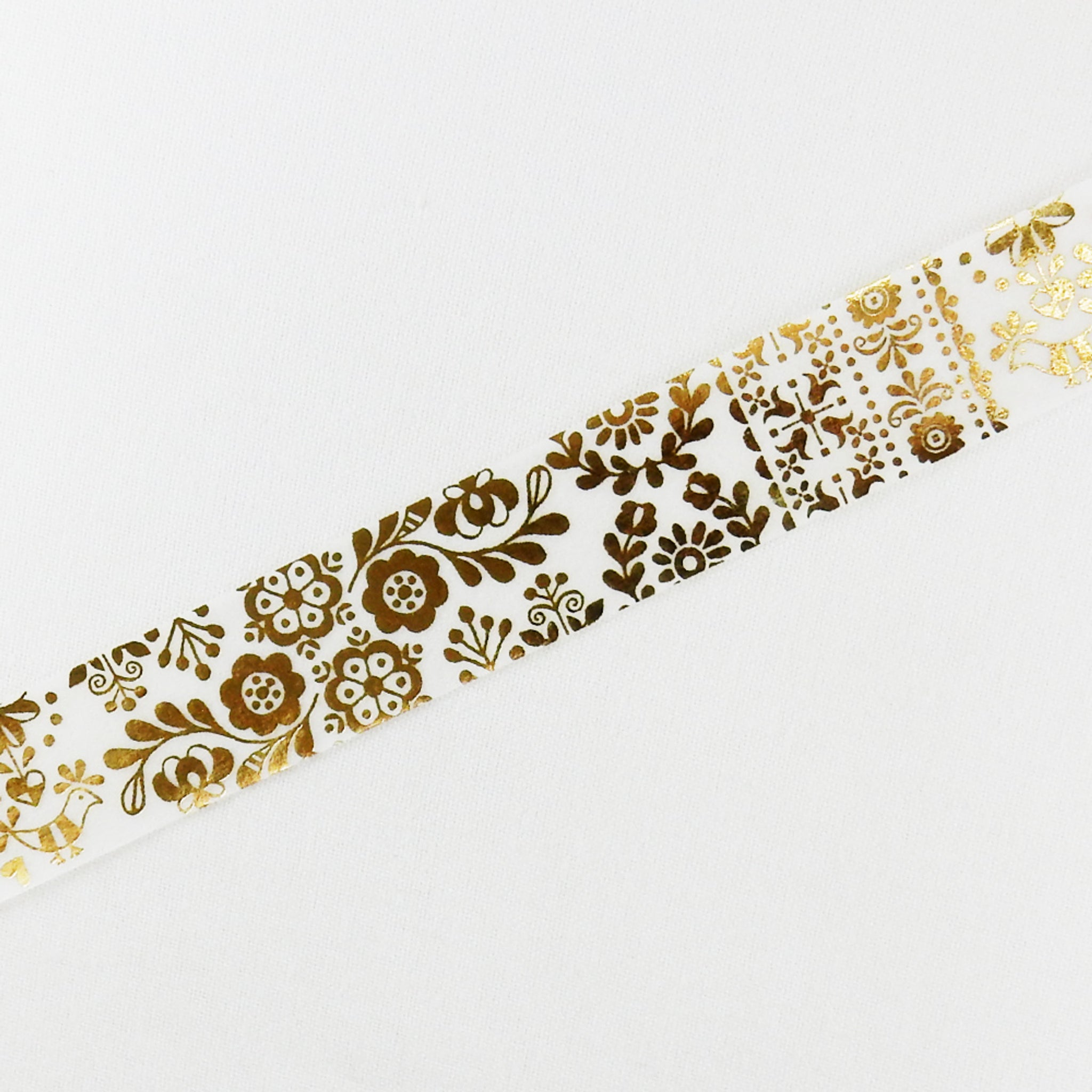Round Top x Material Michemon Hungarian Motif (Gold Leaf) Washi Tape