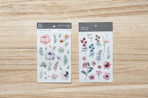 Mu Craft Print-On Sticker Spring Flower
