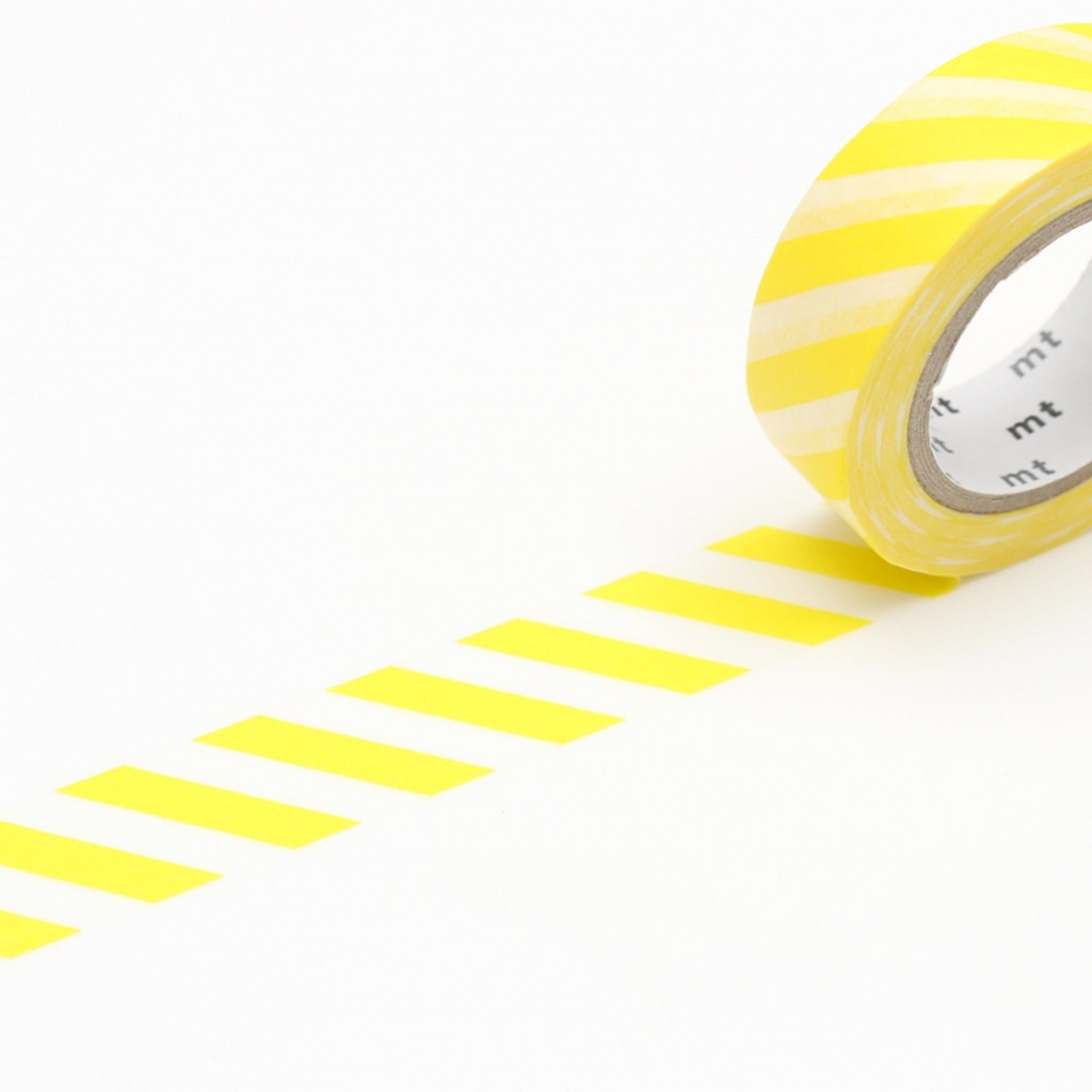 MT Deco Washi Tape Stripe Lemon
