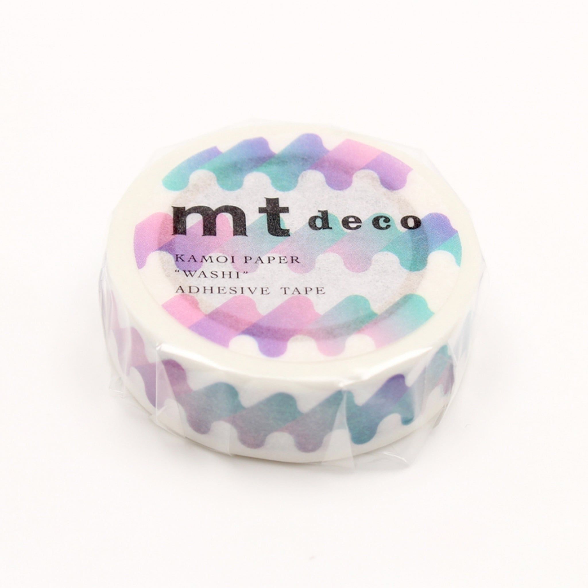 MT Deco Washi Tape Waving Blue