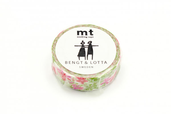 mt x BENGT & LOTTA Alma Pink washi tape (MTBELO07) | Washi Wednesday