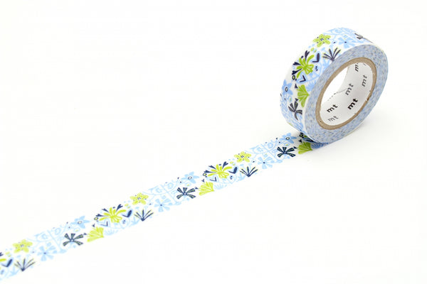 mt x BENGT & LOTTA Alma Blue washi tape (MTBELO08) | Washi Wednesday