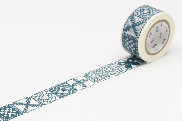 mt x mina perhonen forest tile blue washi tape (MTMINA29) | Washi Wednesday