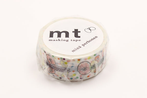 mt x mina perhonen flower white washi tape (MTMINA23) | Washi Wednesday