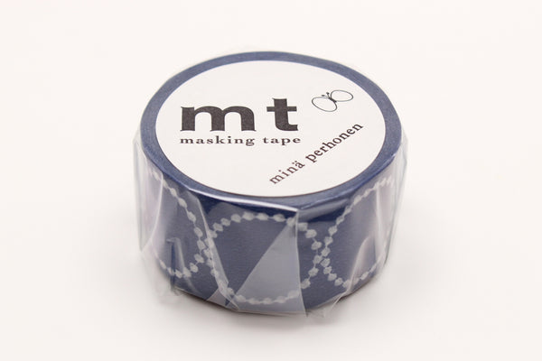 mt x mina perhonen tambourine petit navy washi tape (MTMINA21) | Washi Wednesday