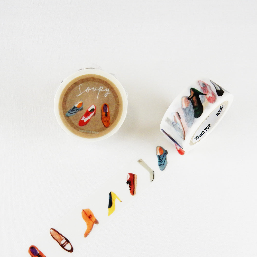 Round Top x Soupy Tang Shoes Washi Tape (MTW-SP006) | Washi Wednesday
