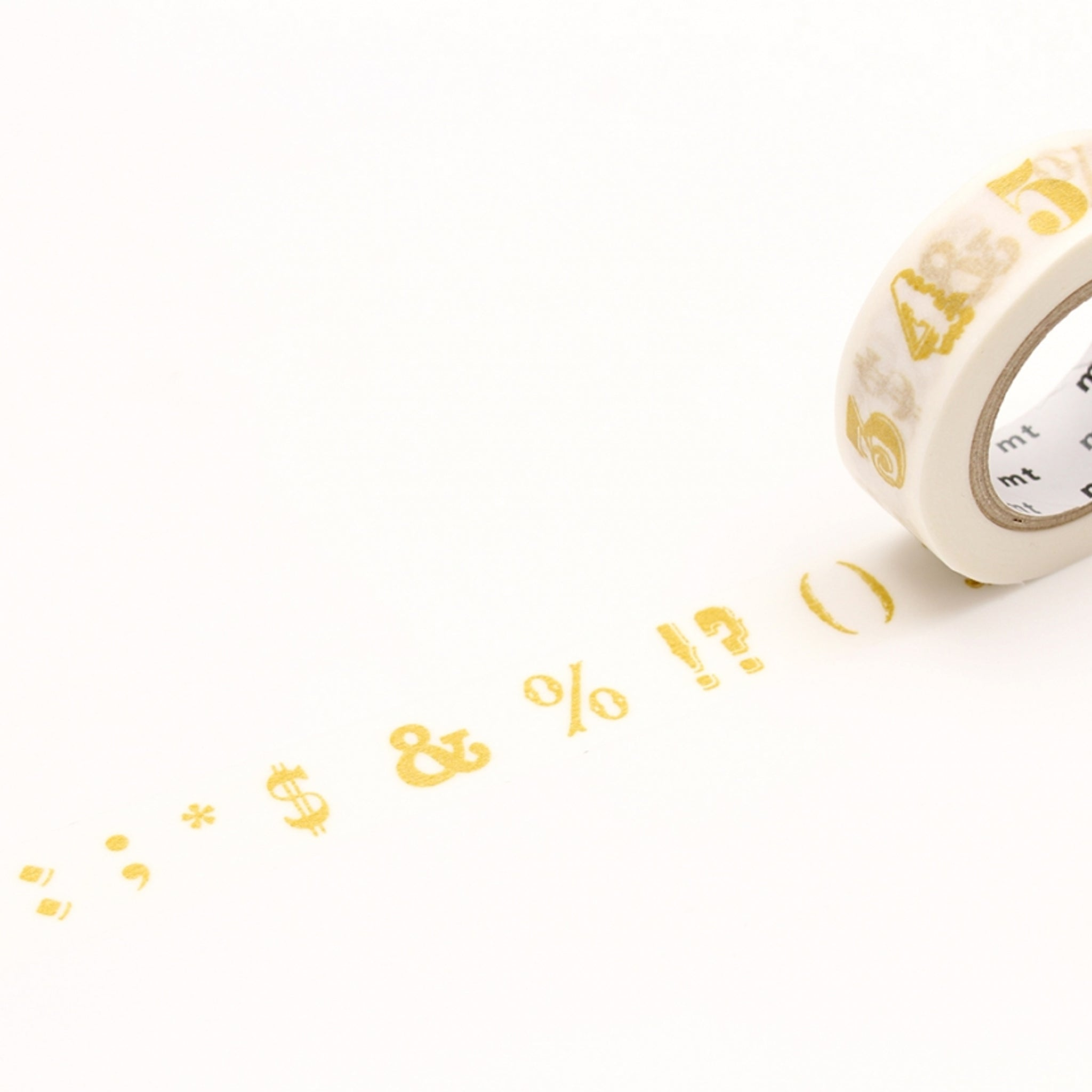 MT EX Washi Tape Number / Symbol Gold