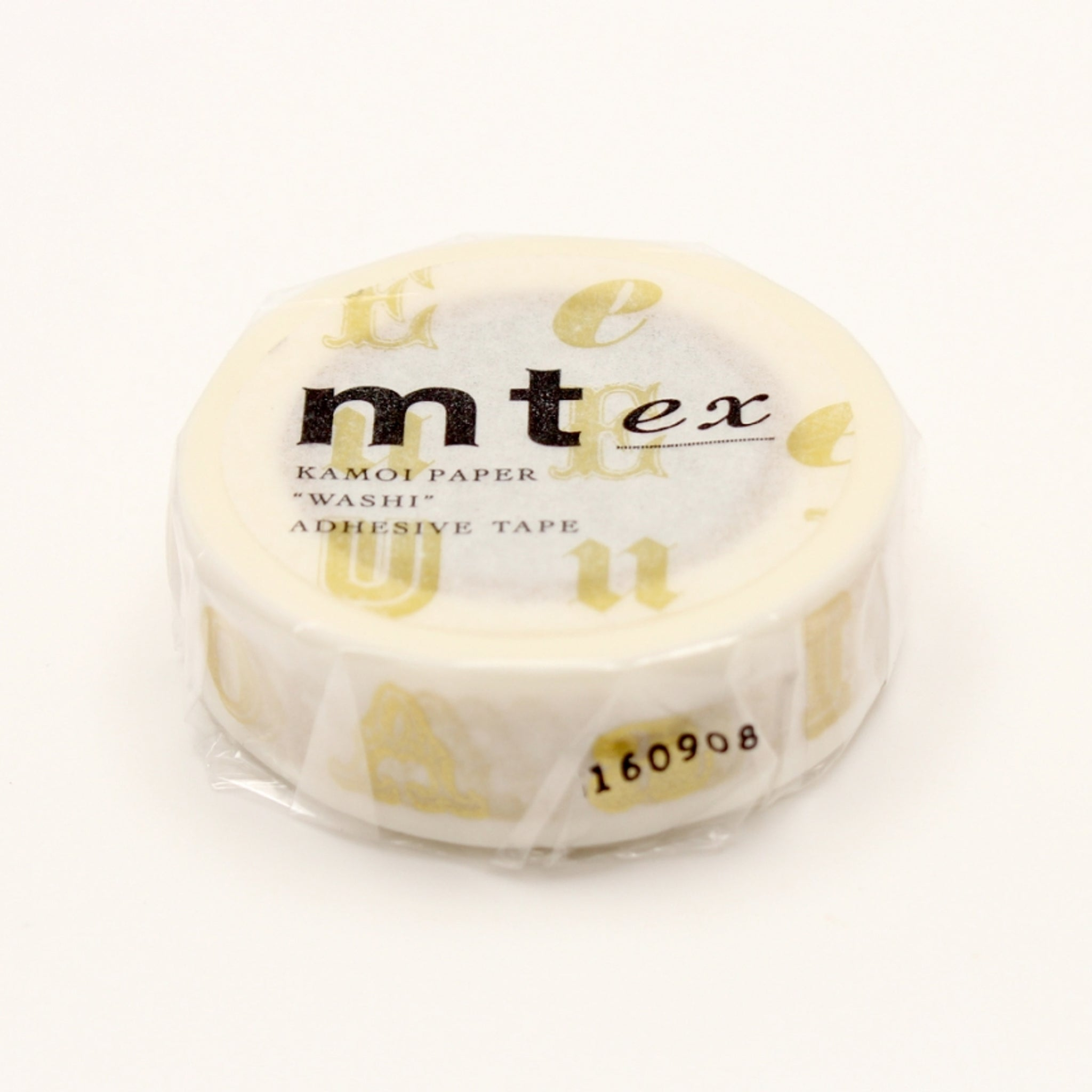 MT EX Washi Tape Vowel Gold