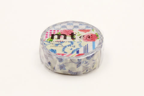 MT Flower Dark Blue R washi tape (MTEX1P55) | Washi Wednesday