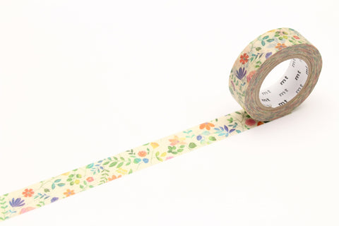 mt Watercolor Flower washi tape