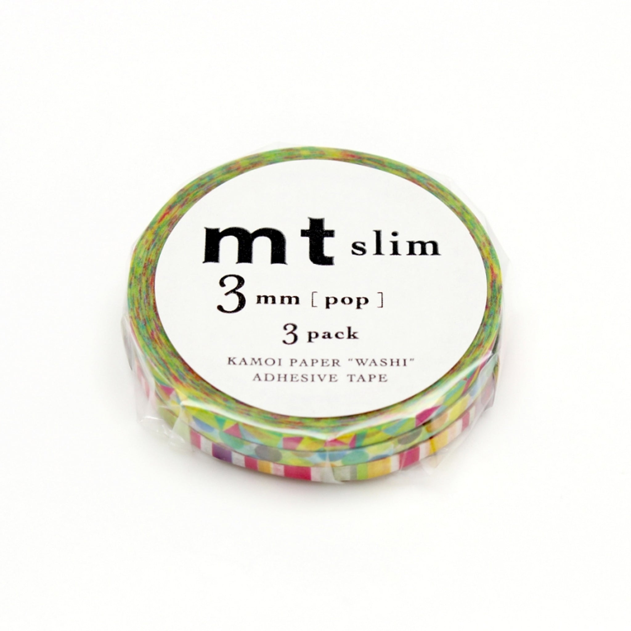 MT Slim 3mm Washi Tape Set Pop