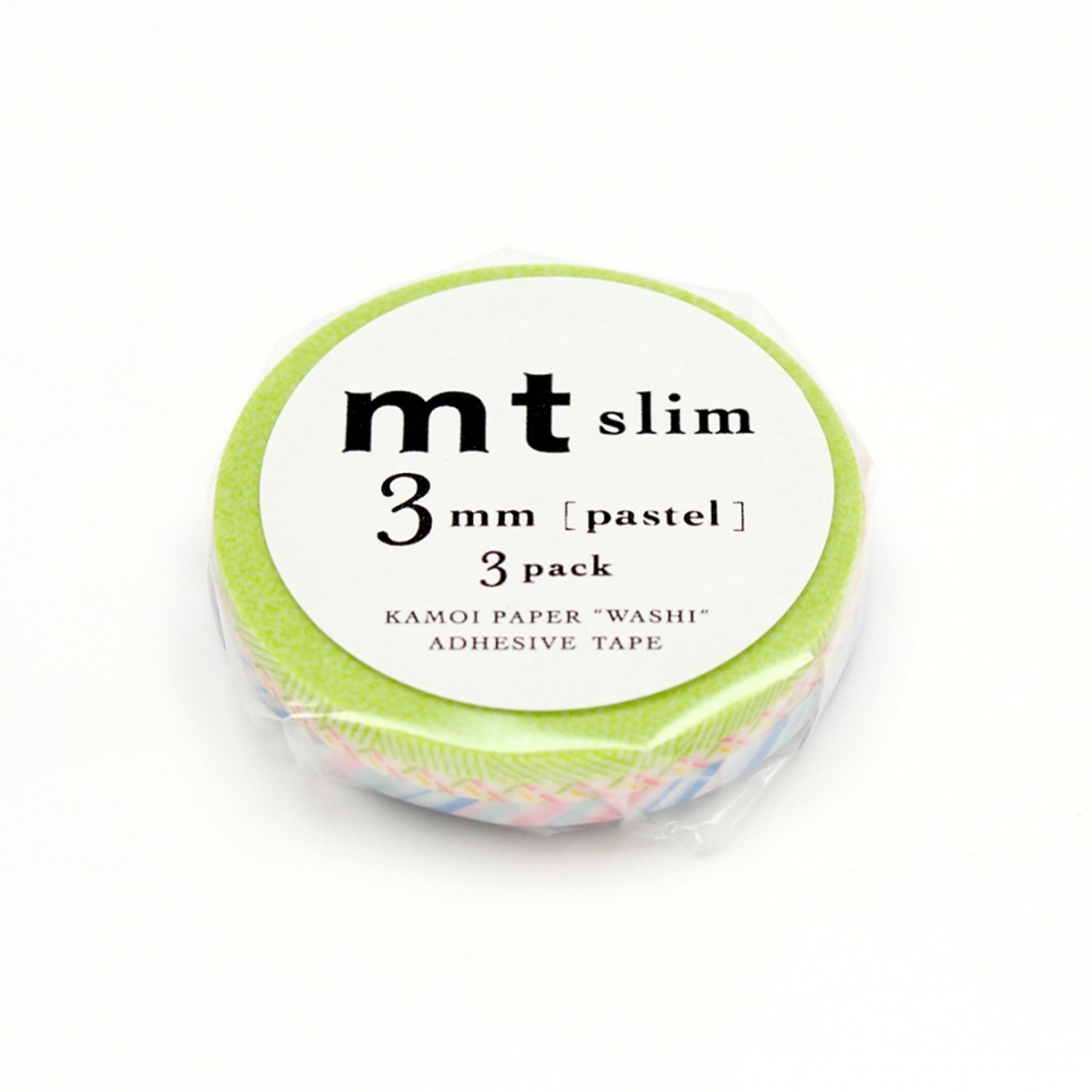 MT Slim 3mm Washi Tape Set Pastel