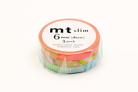 mt slim deco E washi tape set of 3 (MTSLIM20) | Washi Wednesday