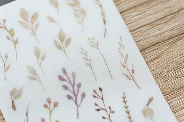 Mu Craft Print-On Sticker Ferns & Flowers