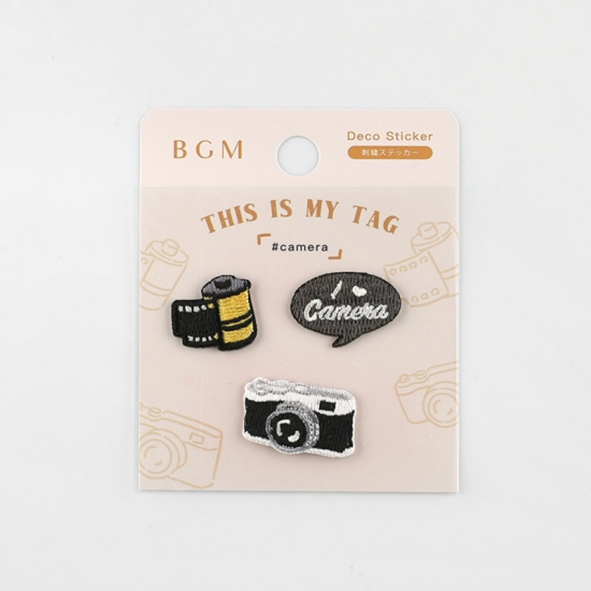 BGM Embroidery Sticker Camera
