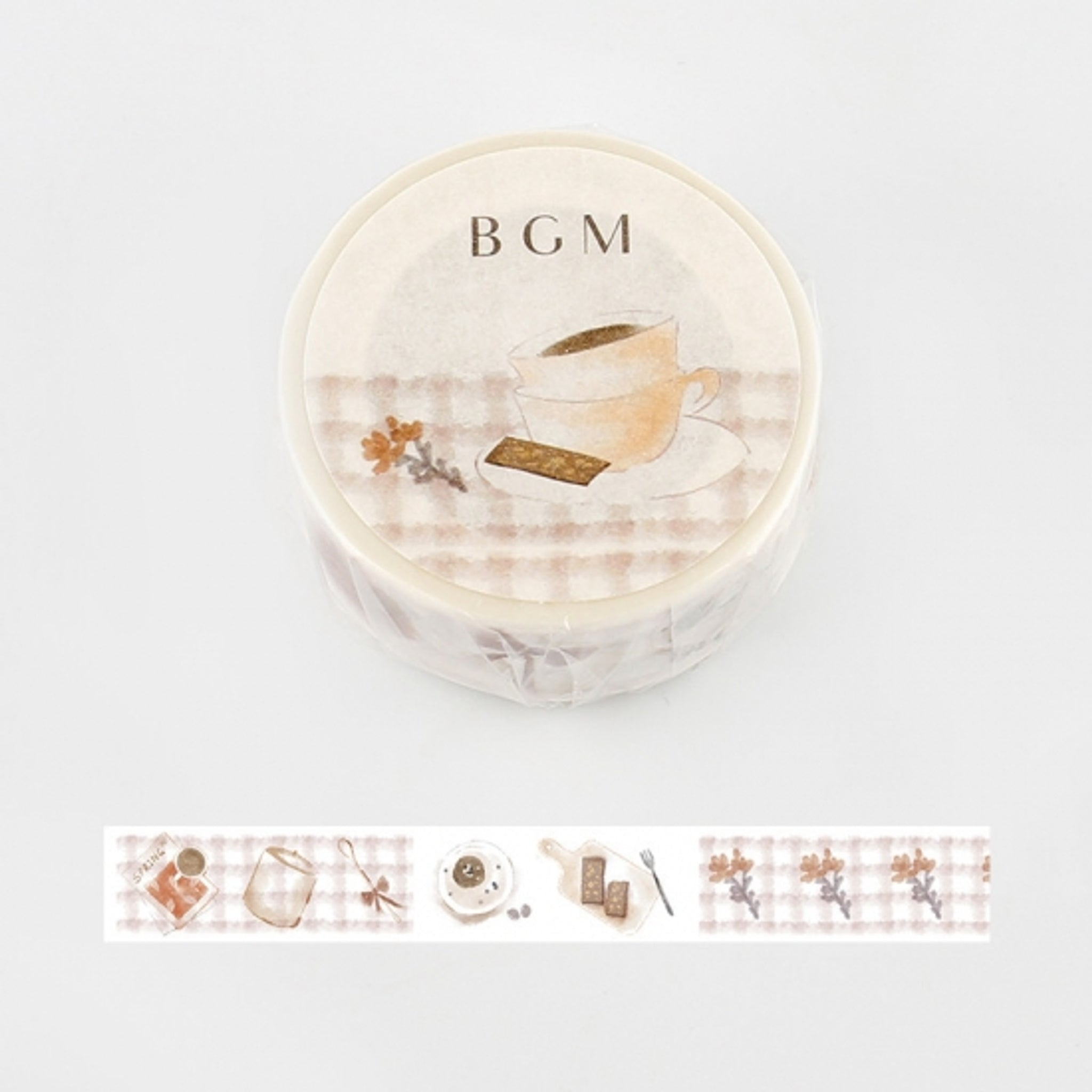 BGM Coffee Chocolate Washi Tape
