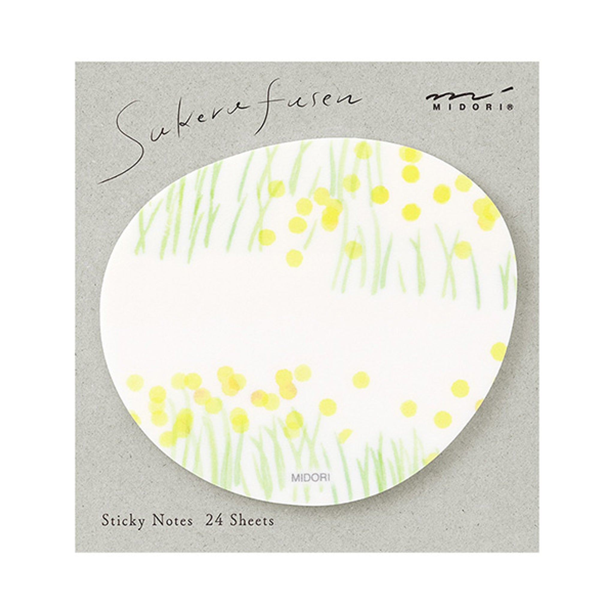 Midori Sticky Notes Transparency Flower Garden Yellow