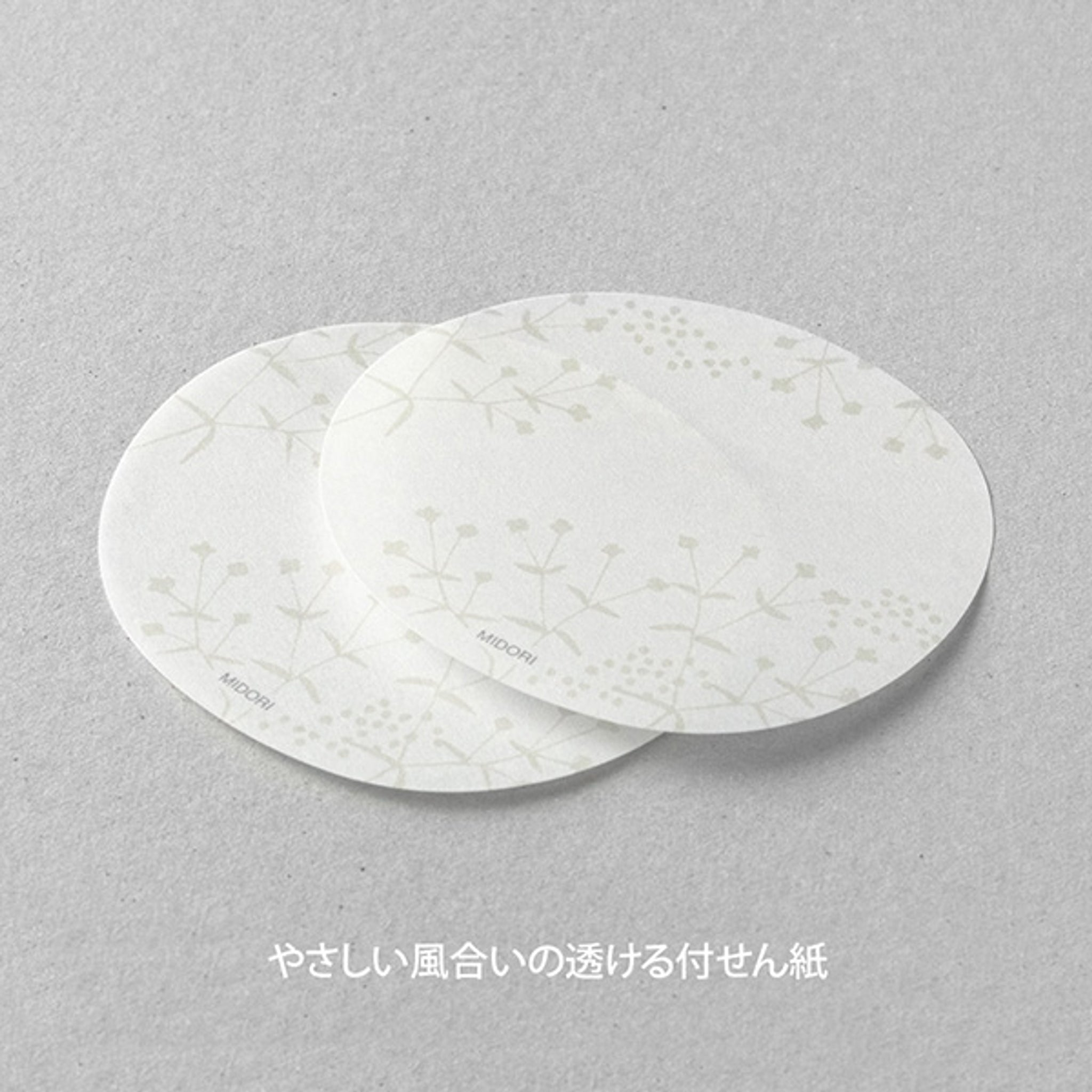 Midori Sticky Notes Transparency Small Flowers White