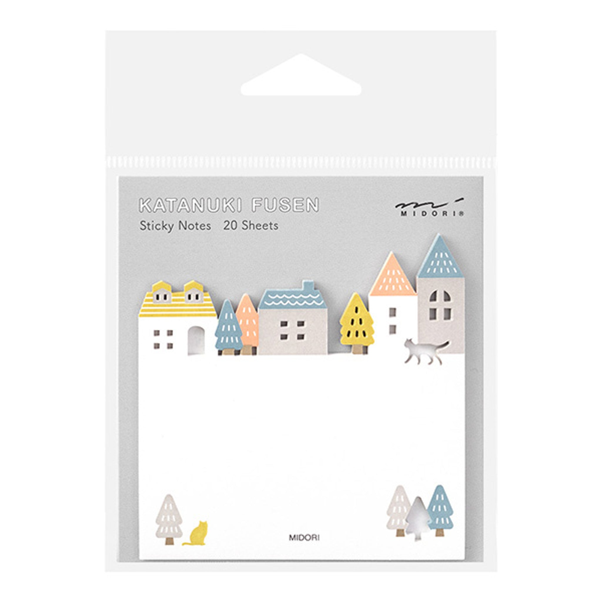 Midori Sticky Notes Die-Cutting Town