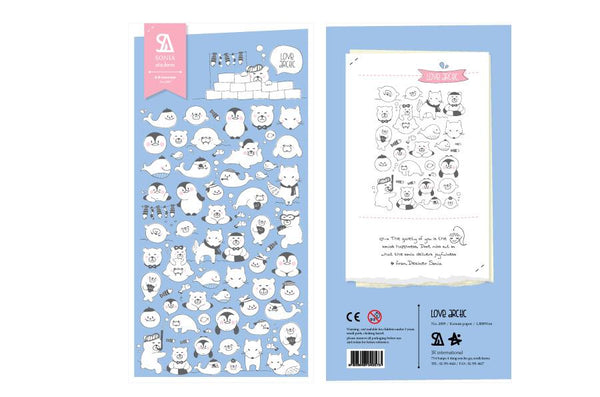 Sonia Love Arctic sticker (2009) | Cute Korean Stickers | Washi Wednesday