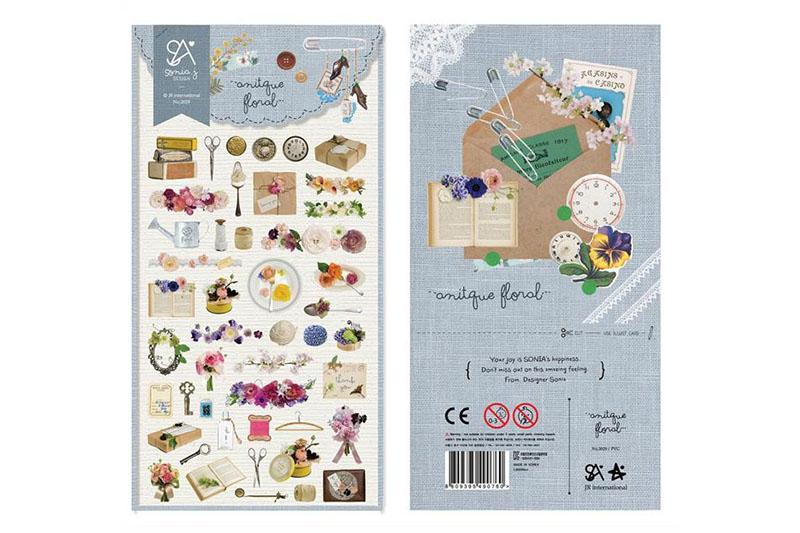 Sonia Antique Floral sticker