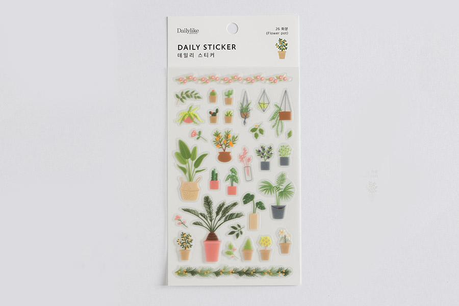 DailyLike Daily sticker - 26 plant (HBE-0117) | Washi Wednesday