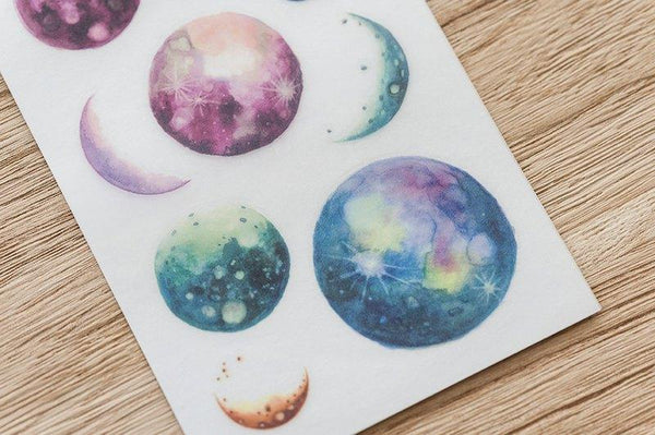 Mu Craft Print-On Sticker Planets