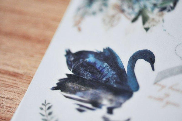 Mu Craft Print-On Sticker Swan Lake
