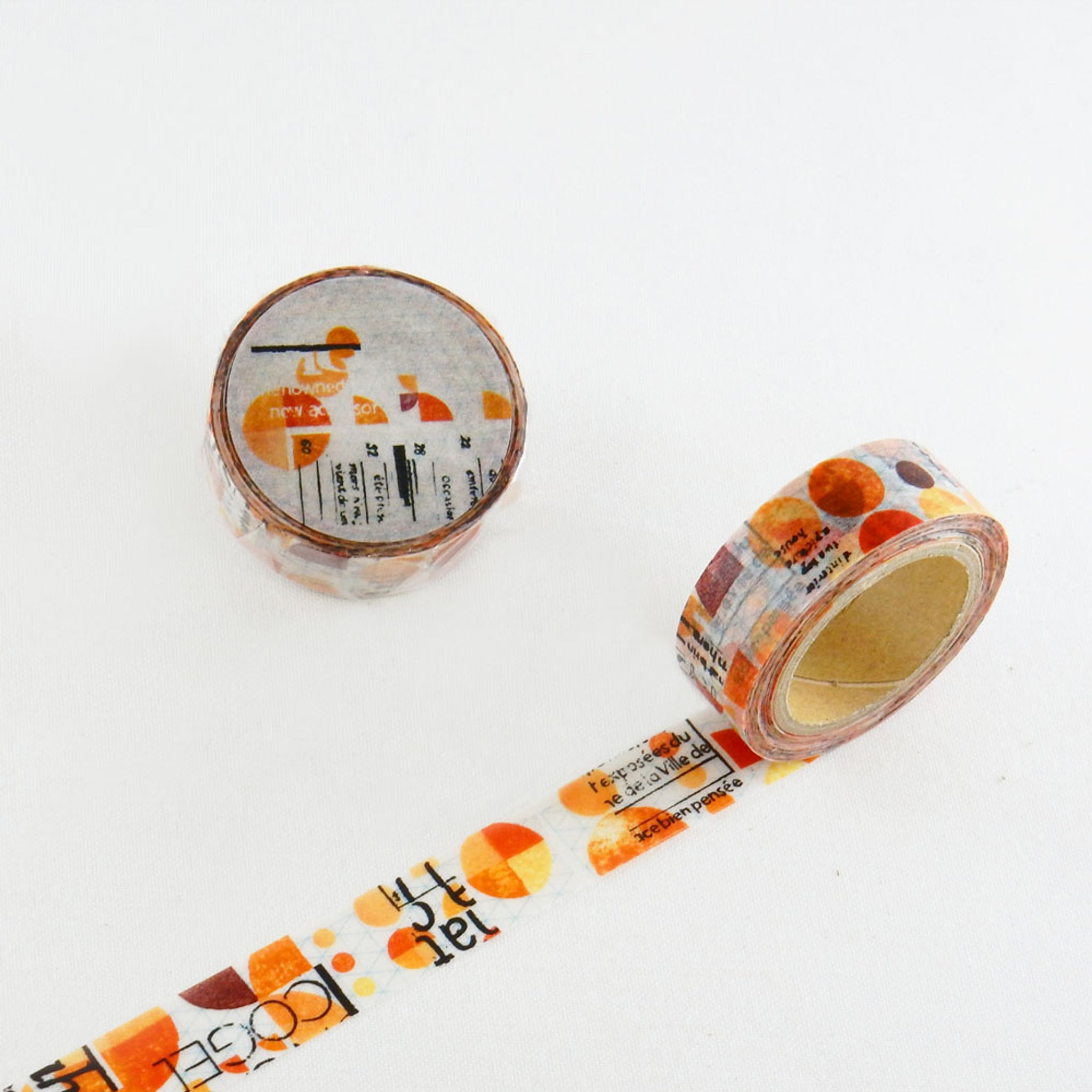 Round Top x ChamilGarden Orange Washi Tape