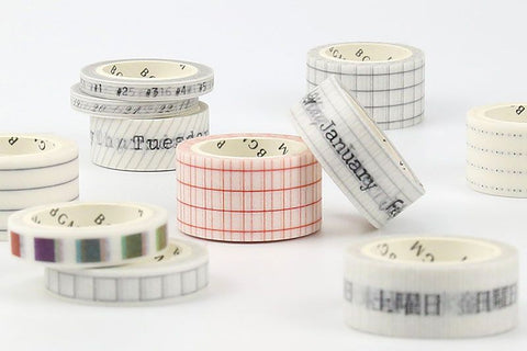 BGM Check Rainbow Washi Tape