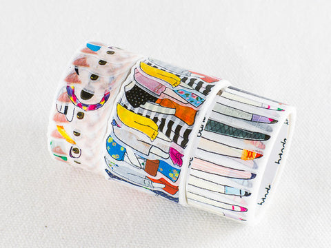 Bande White cat Washi Roll Sticker (BDA210) | Washi Wednesday