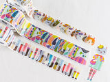 Bande Stylish Cats Washi Roll Sticker