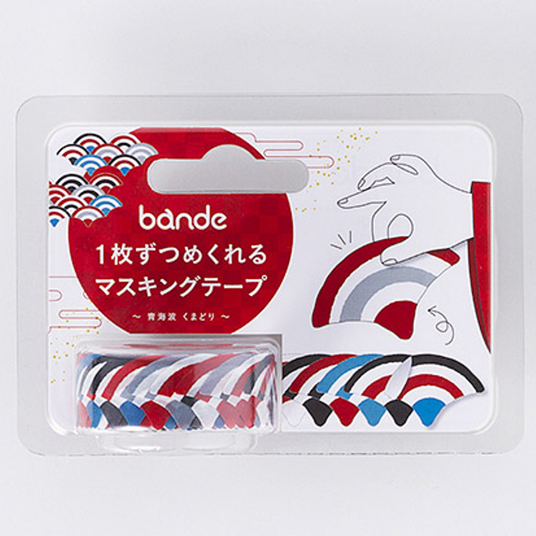 Bande Seigaiha Kumadori Washi Roll Sticker