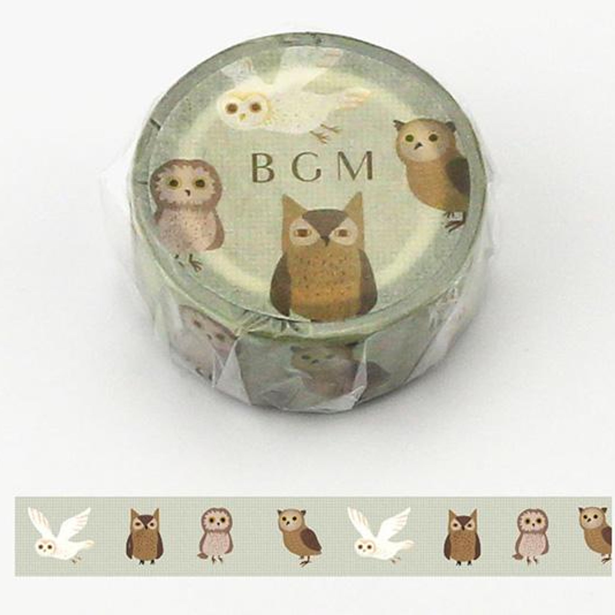 BGM Horned Owl Washi Tape