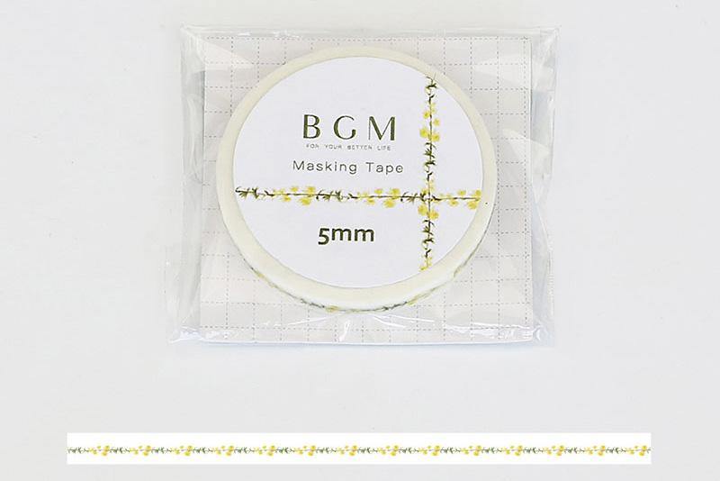 BGM Yellow Flowers Washi Tape (BM-LS024)