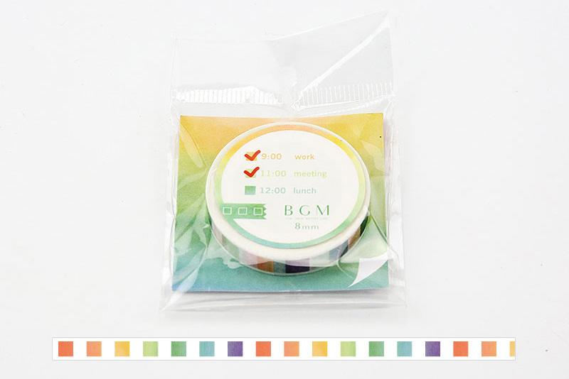 BGM Check Rainbow Washi Tape (BM-SPT002)