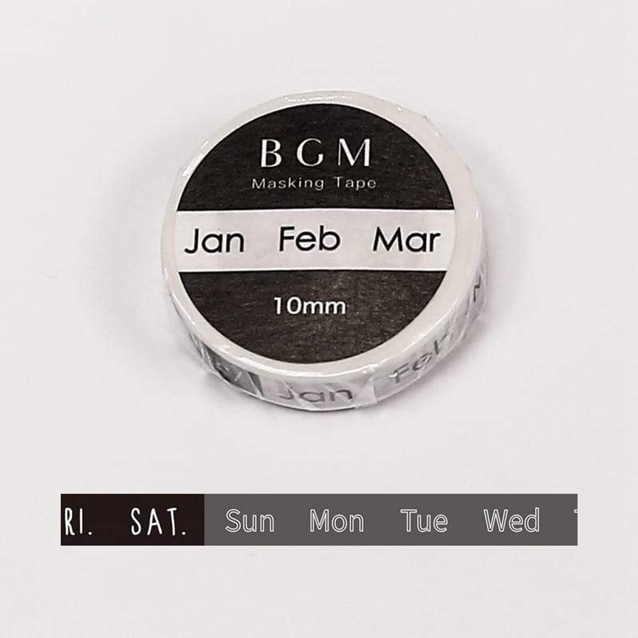 BGM Days - Month Washi Tape