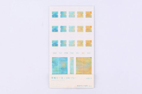 BGM Watercolor Blue Note Sticker
