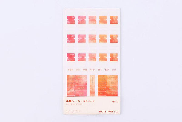 BGM Watercolor Red Note Sticker (BN-ST08)