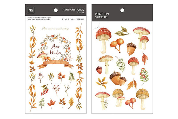 Mu Craft Print-On Sticker Mushroom