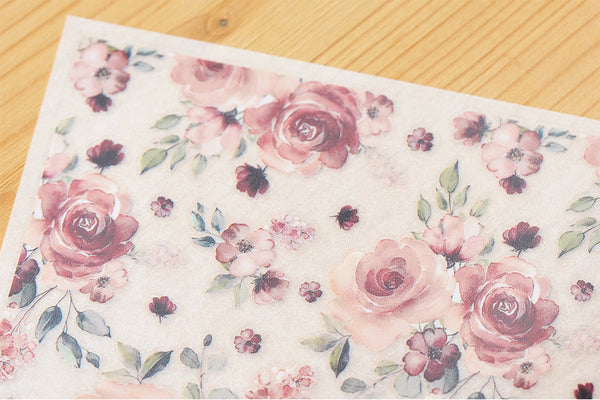 Mu Craft Print-On Sticker Pink Rose