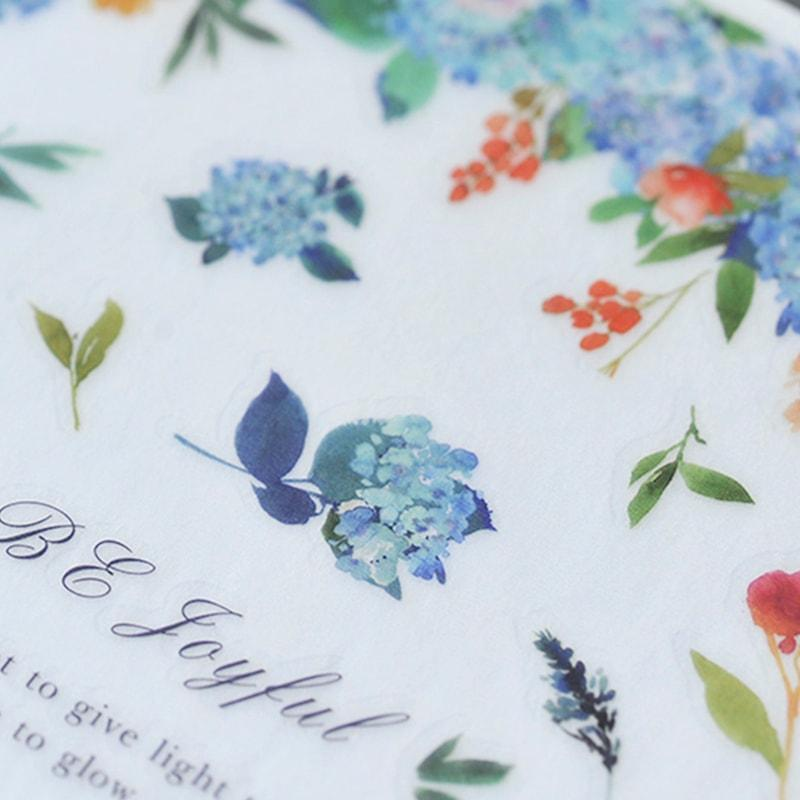 Mu Craft Print-On Sticker Blue Hydrangea 086