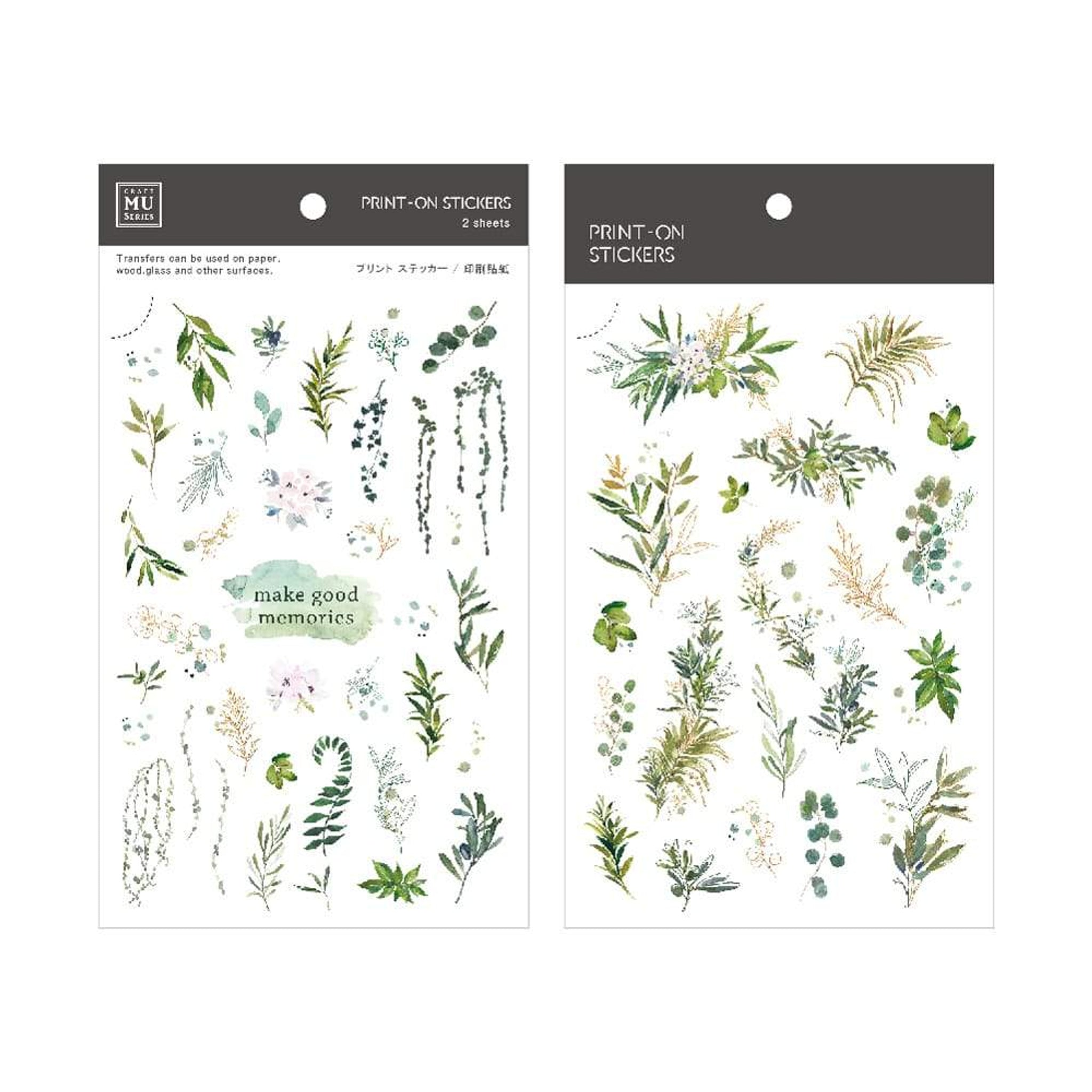 MU Craft Print-On Sticker Ferns & Leaves 105