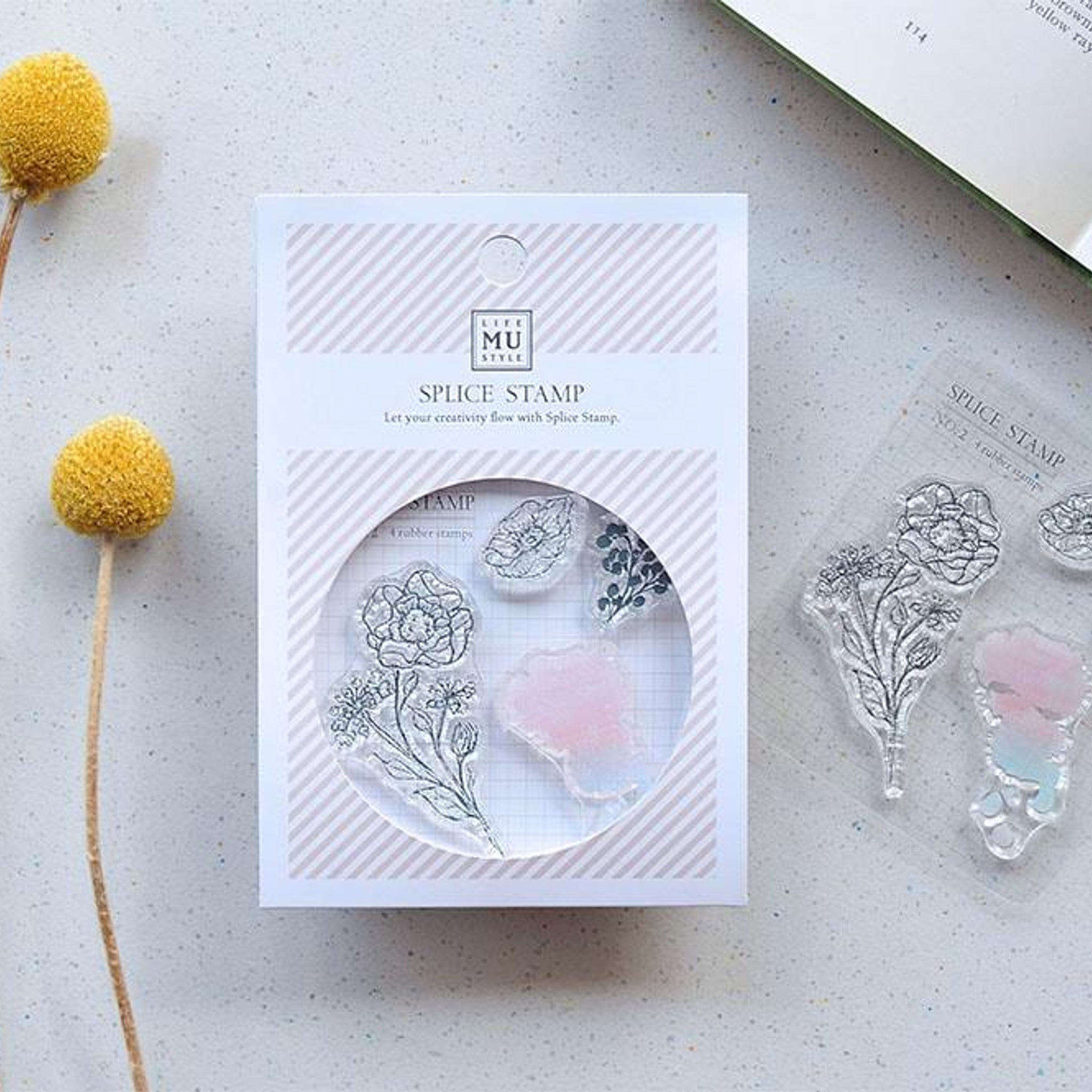 MU Craft Clear Splice Stamp Botanical 02