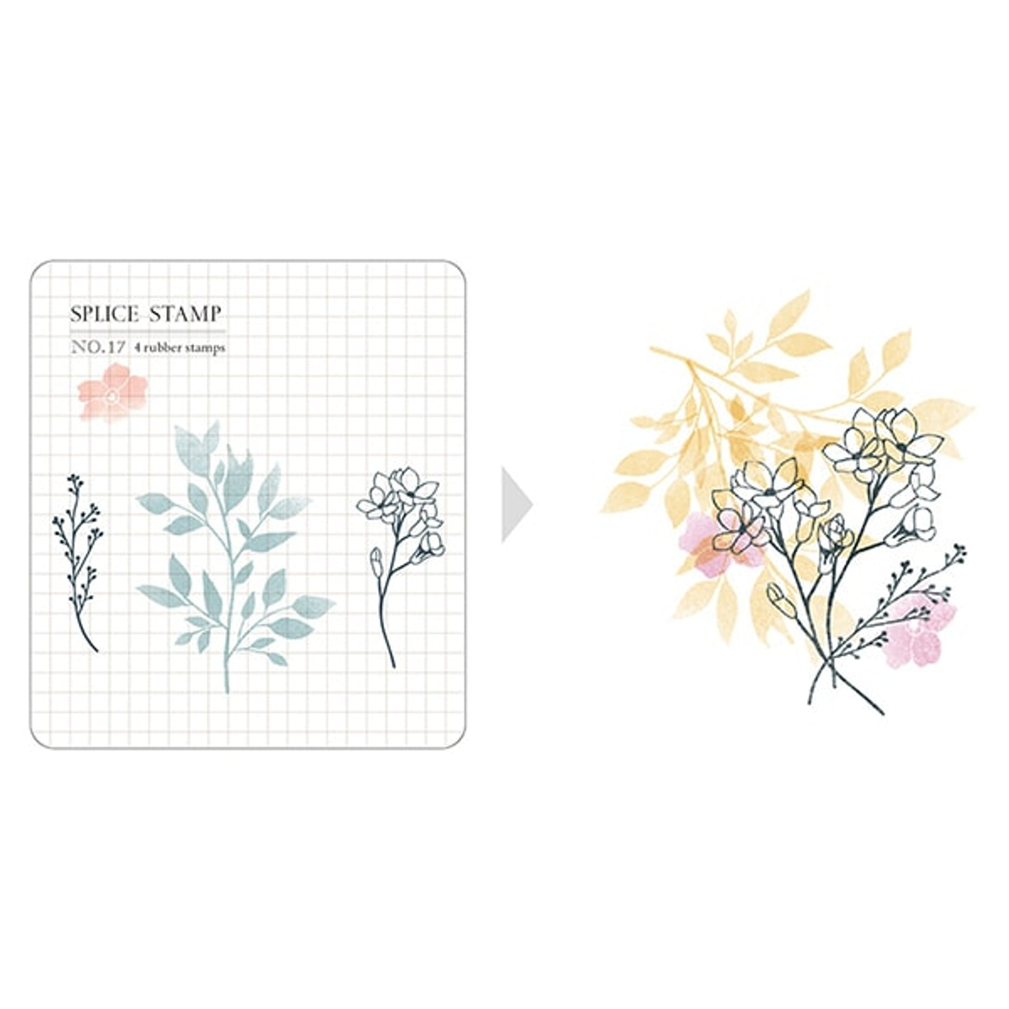 MU Craft Clear Splice Stamp Botanical 17